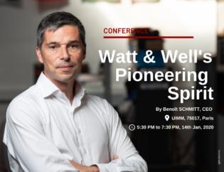 Watt & Well CEO Benoit Schmitt makes a conference at UIMM Ecole du Management